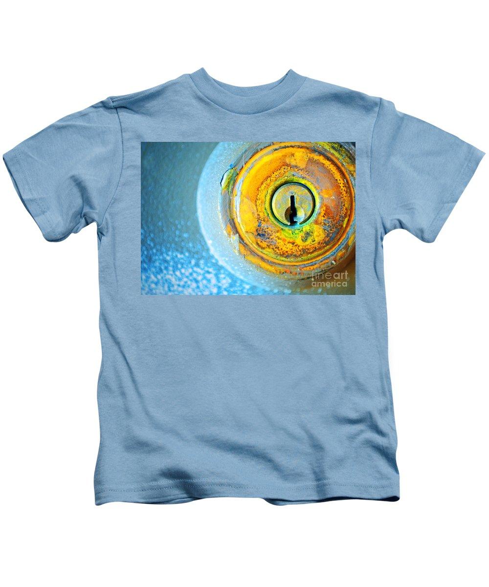 Lock Kids T-Shirt featuring the photograph The Lock by Tara Turner