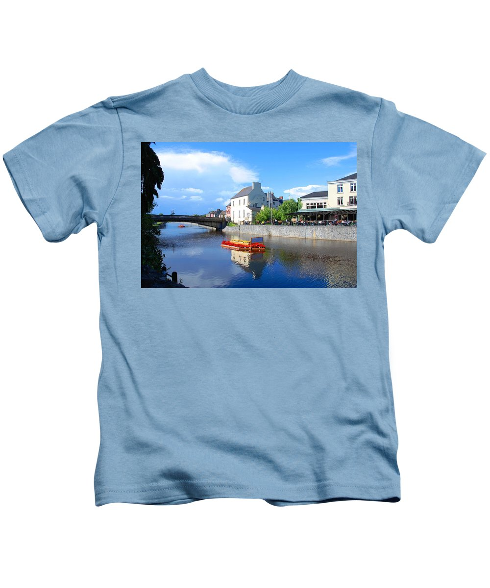 Kilkenny Kids T-Shirt featuring the photograph The River Nore by Charlie and Norma Brock