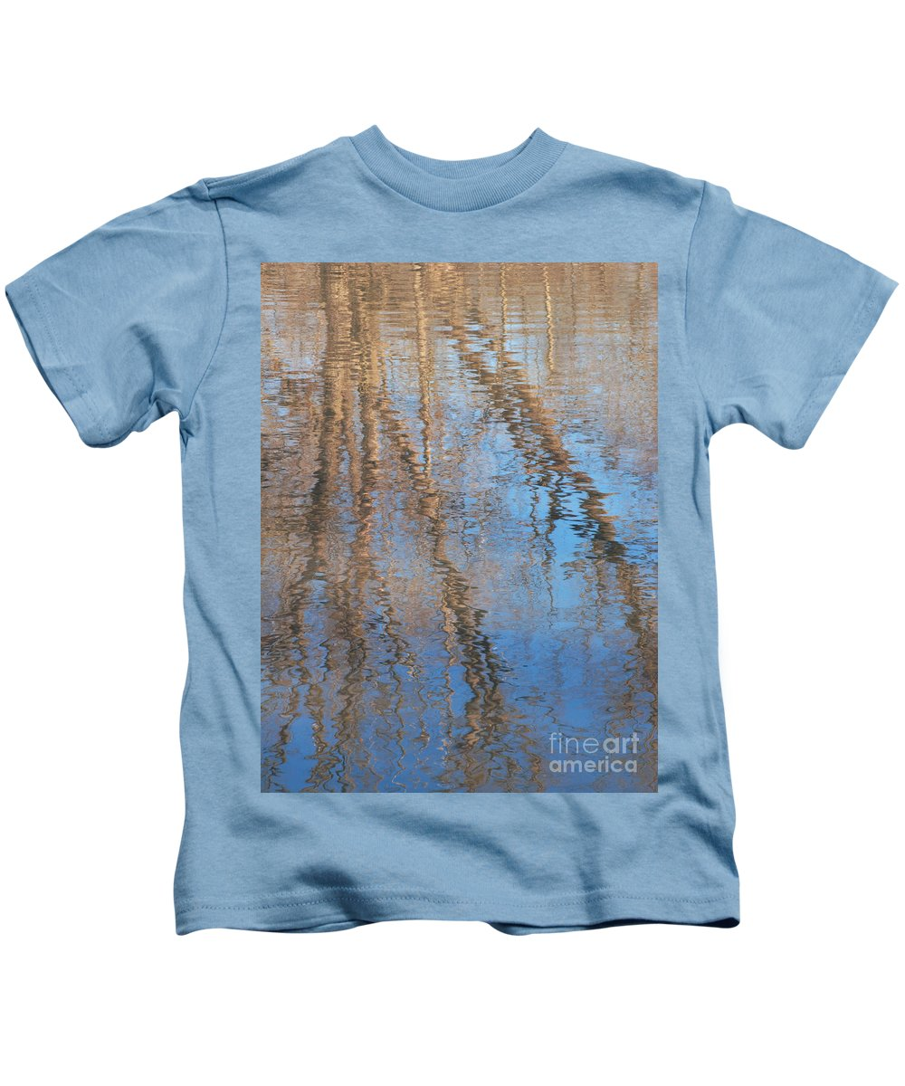 Tree Kids T-Shirt featuring the photograph Topside Down by Ann Horn