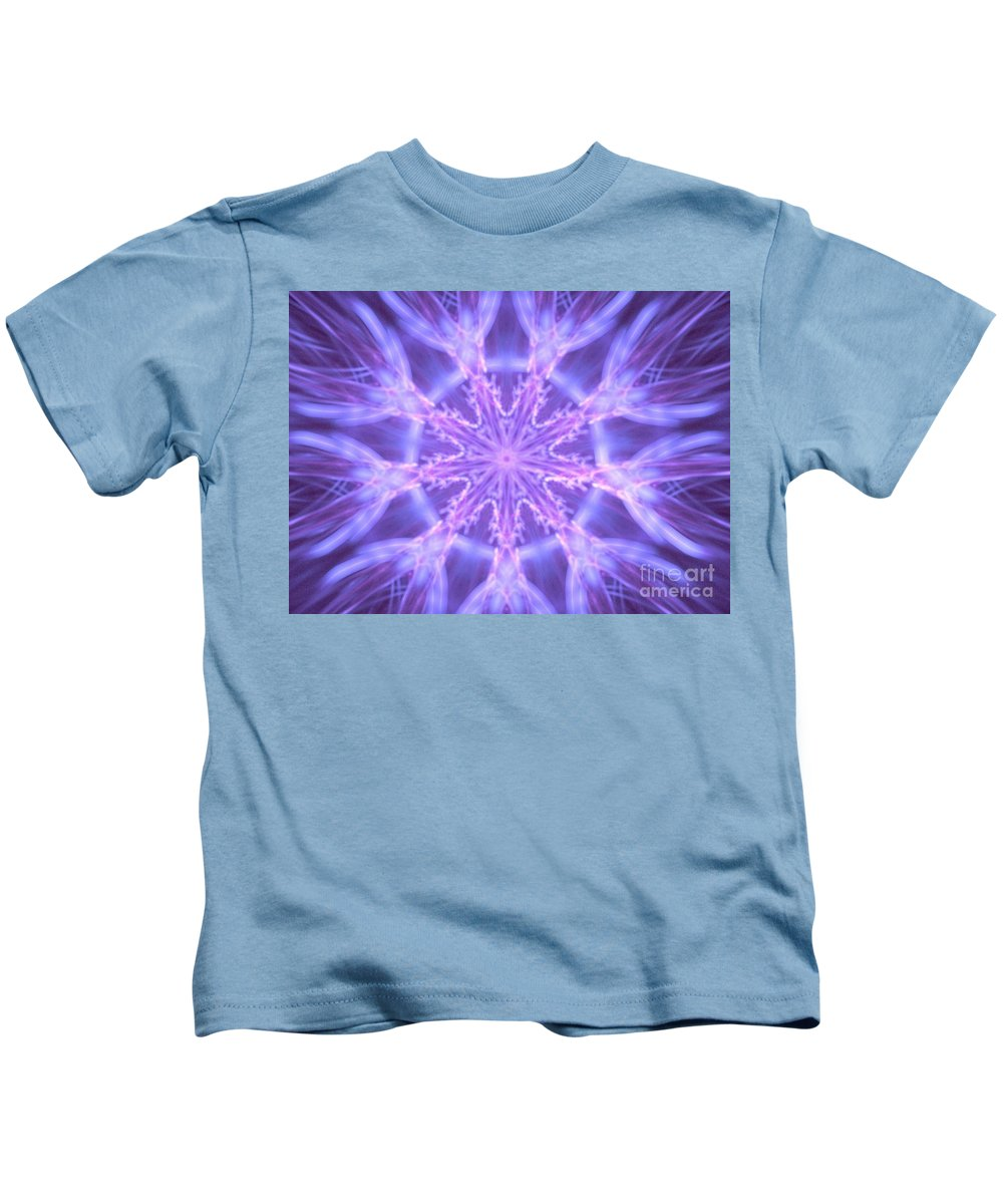 Apophysis Kids T-Shirt featuring the digital art Tulip Crystal by Kim Sy Ok