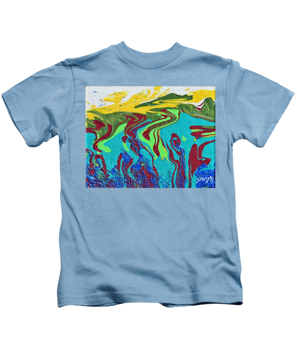 Sea Kids T-Shirt featuring the painting Undersea Shadows by Donna Blackhall