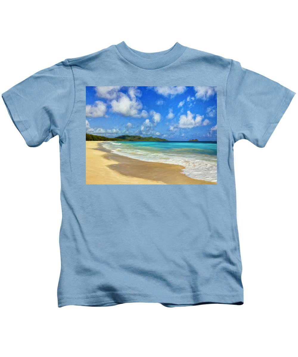 Untouched Kids T-Shirt featuring the painting Untouched by Dominic Piperata