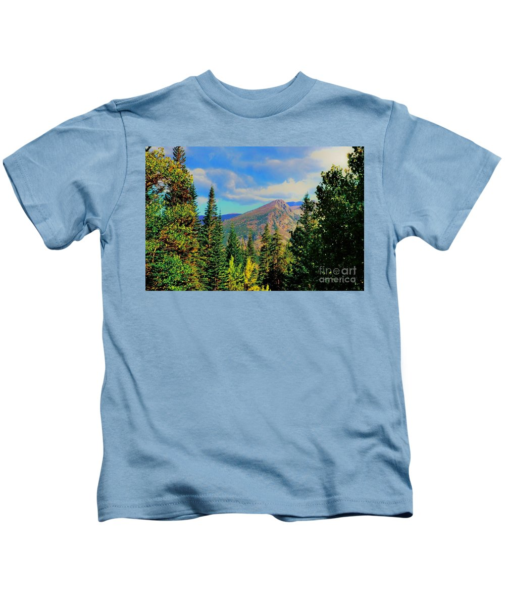 Blue Kids T-Shirt featuring the photograph View by Kathleen Struckle