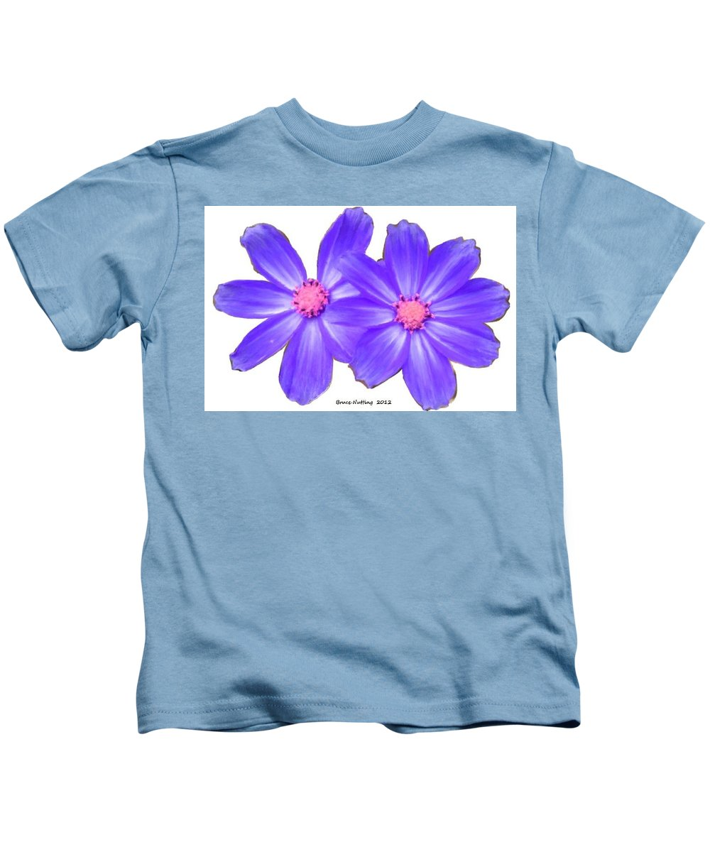Violet Kids T-Shirt featuring the painting Violet Asters by Bruce Nutting