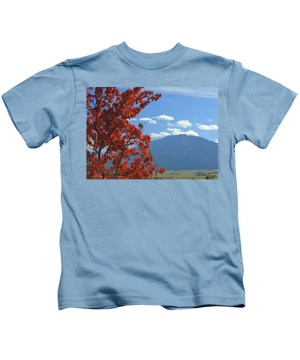 Fall Colors Kids T-Shirt featuring the photograph Dn5930-wallowa Valley In Fall by Ed Cooper Photography