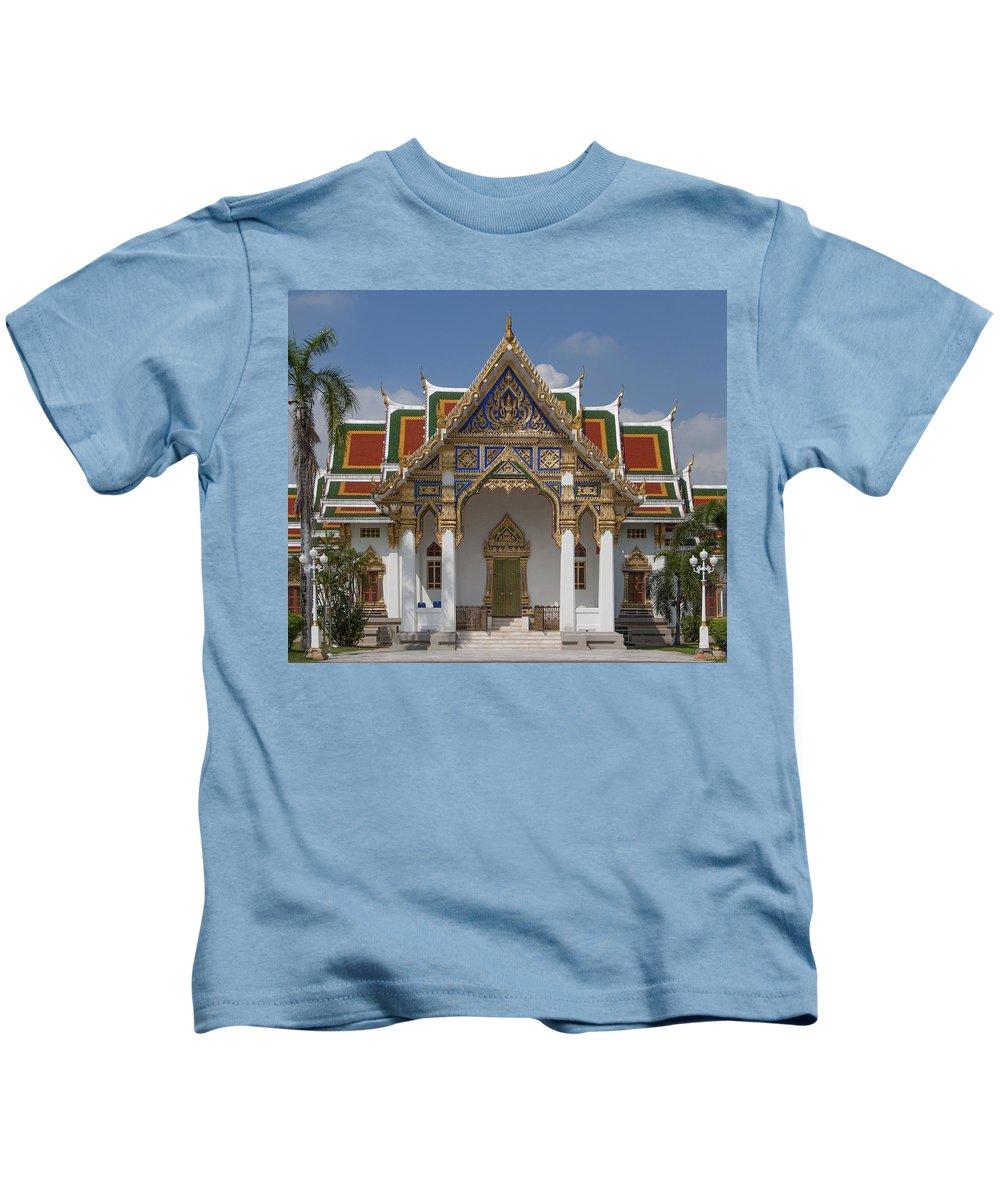 Bangkok Kids T-Shirt featuring the photograph Wat Phrasri Mahathat Ubosot Dthb1464 by Gerry Gantt