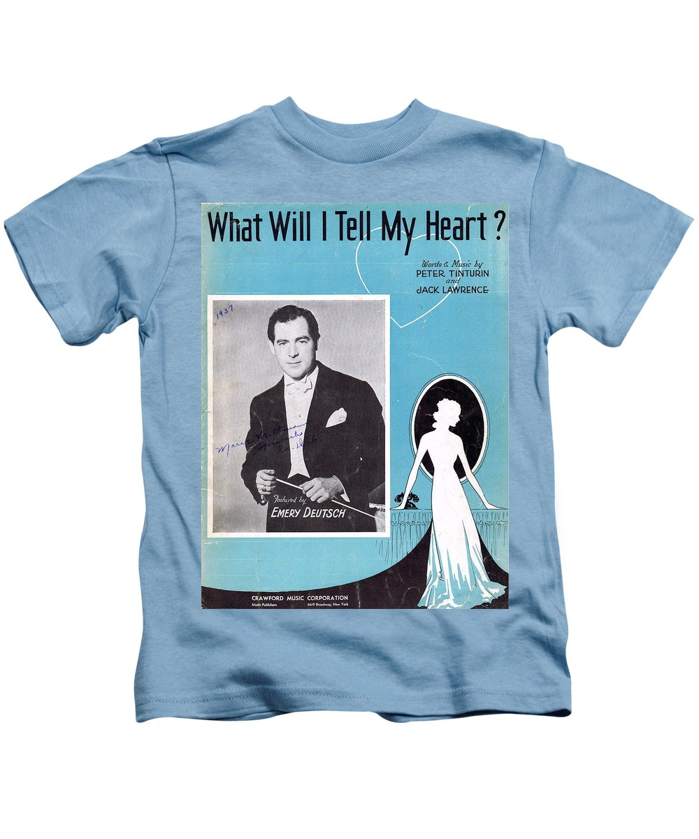 Nostalgia Kids T-Shirt featuring the photograph What Will I Tell My Heart by Mel Thompson