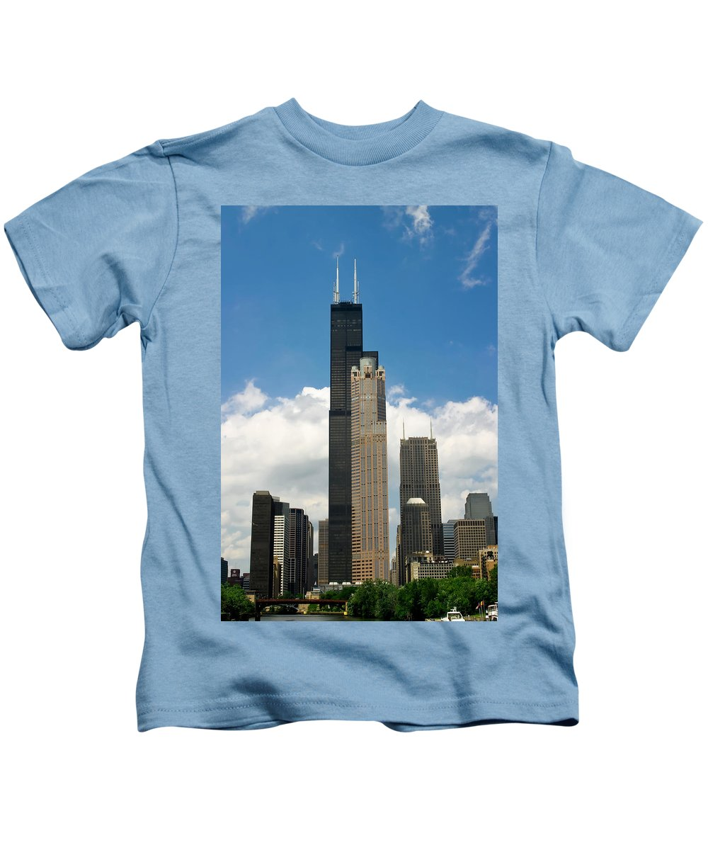 3scape Kids T-Shirt featuring the photograph Willis Tower Aka Sears Tower by Adam Romanowicz