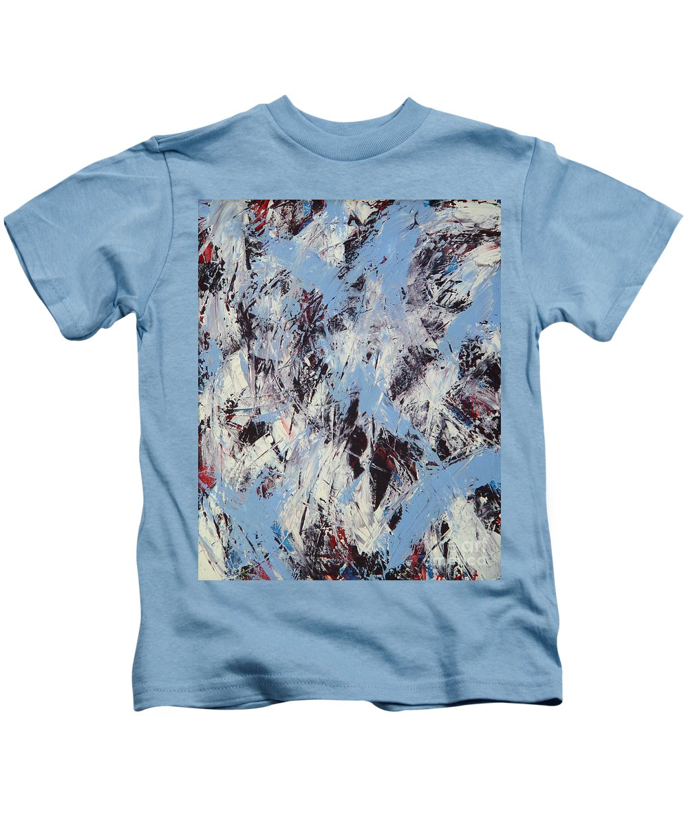 Abstract Kids T-Shirt featuring the painting Winter by Dean Triolo