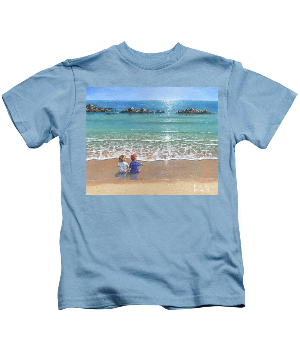 Landscape Kids T-Shirt featuring the painting You And Me by Richard Harpum