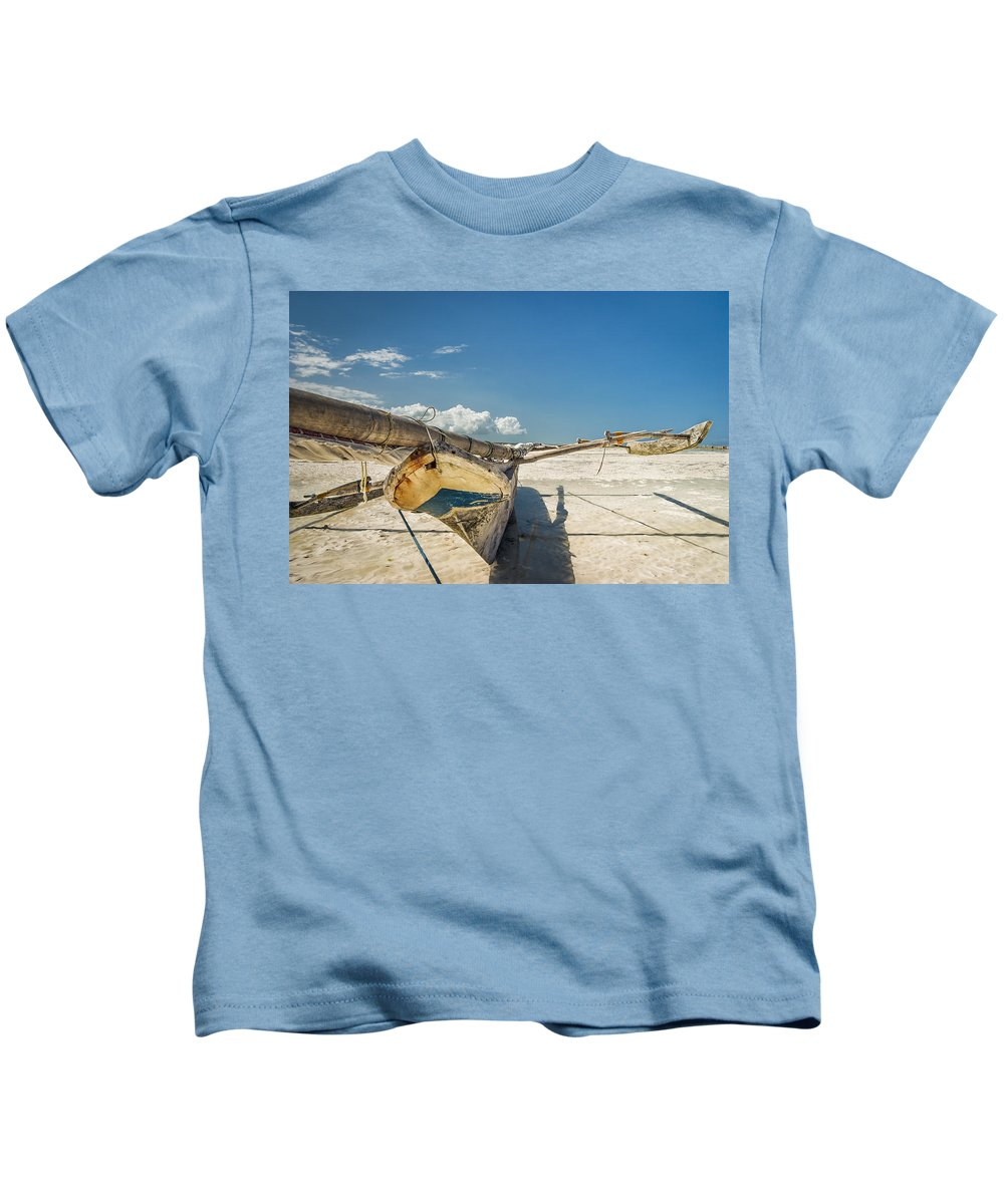 3scape Kids T-Shirt featuring the photograph Zanzibar Outrigger by Adam Romanowicz