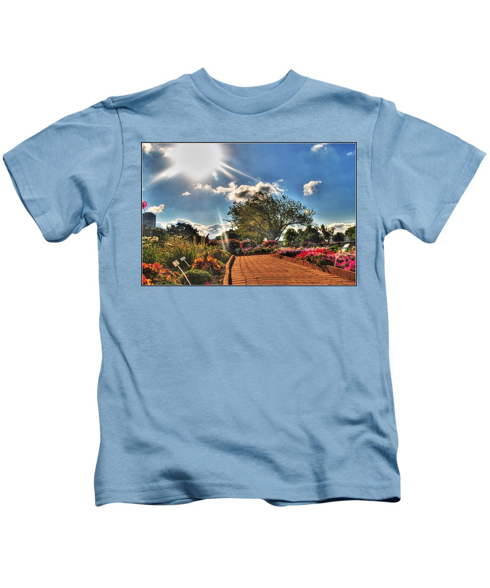 Kids T-Shirt featuring the photograph 006 Summer Sunrise Series by Michael Frank Jr