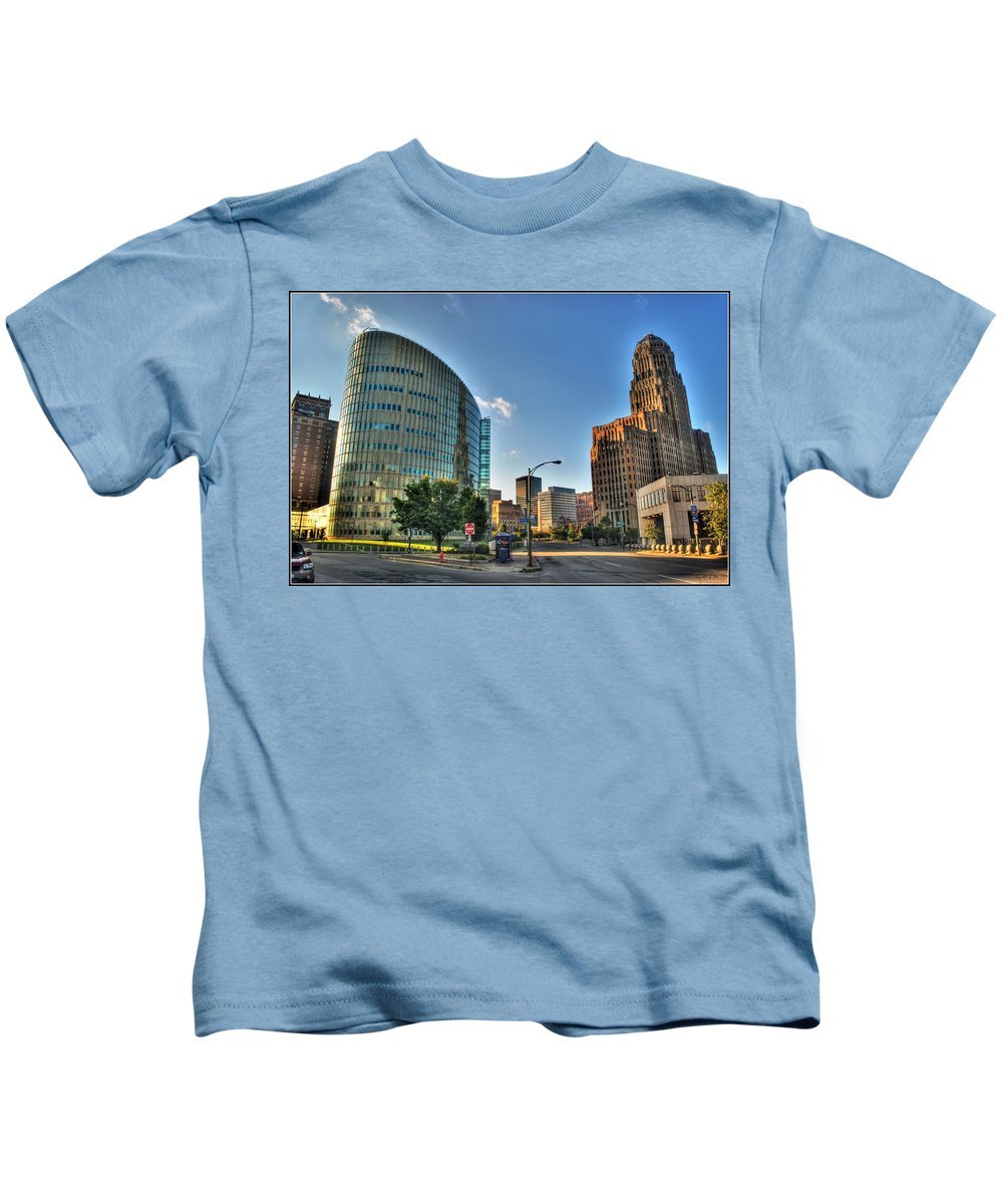Kids T-Shirt featuring the photograph 010 Wakening Architectural Dynamics by Michael Frank Jr