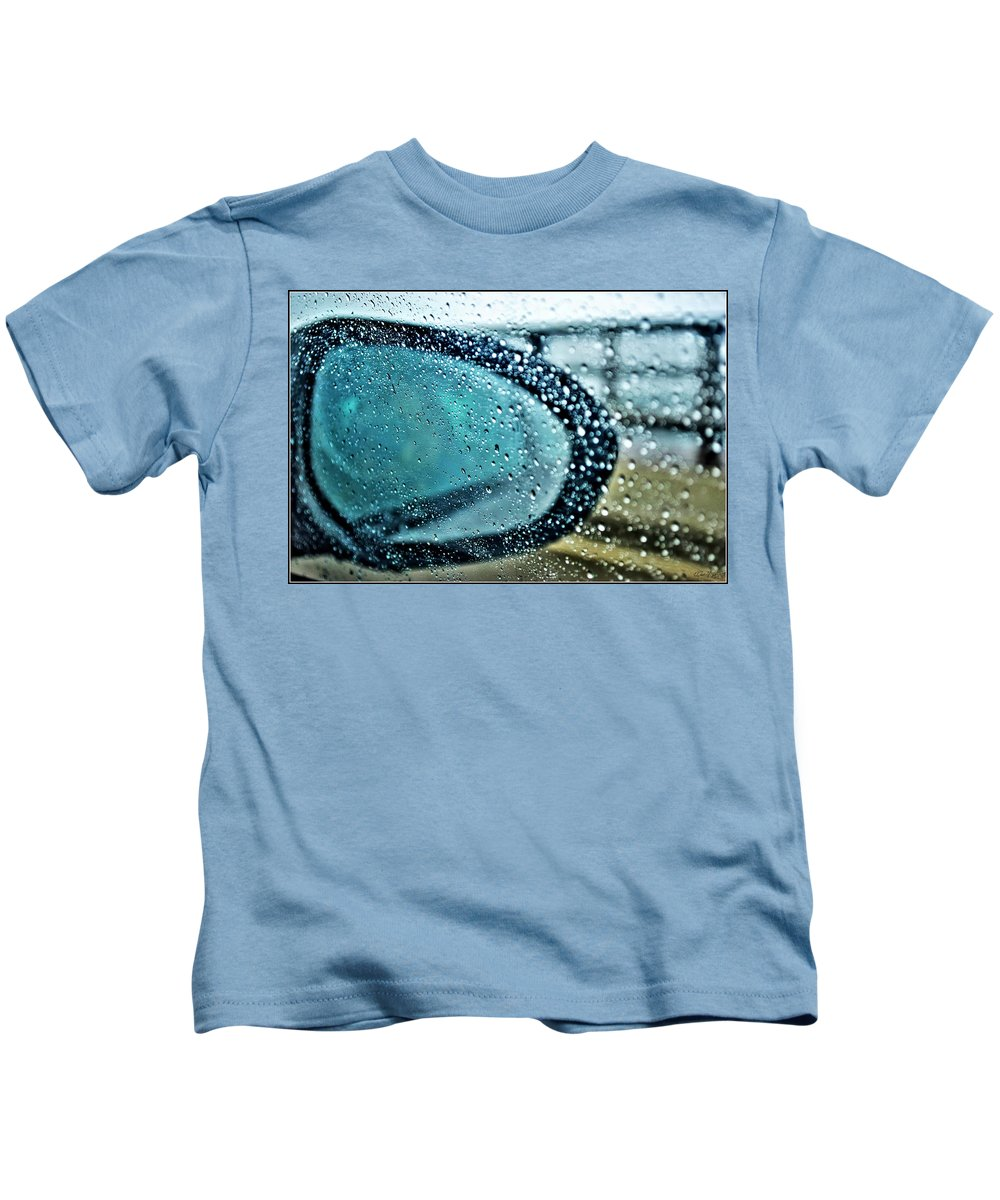 Kids T-Shirt featuring the photograph 03 Crying Skies by Michael Frank Jr