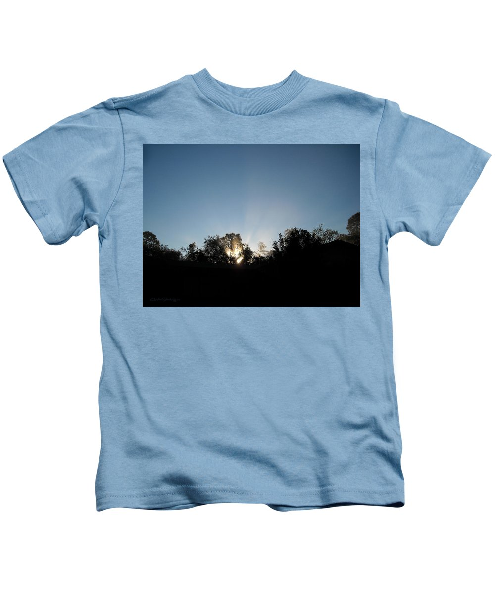 Silhouette Kids T-Shirt featuring the photograph Home Sweet Home by Christine Stonebridge