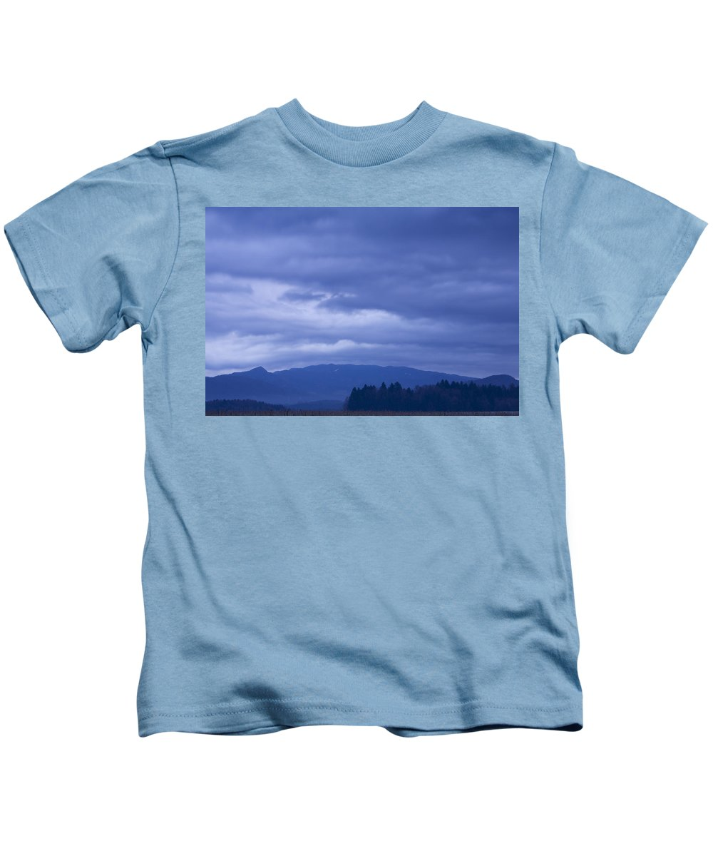 Sunrise Kids T-Shirt featuring the photograph Moody Sky At Dawn by Ian Middleton