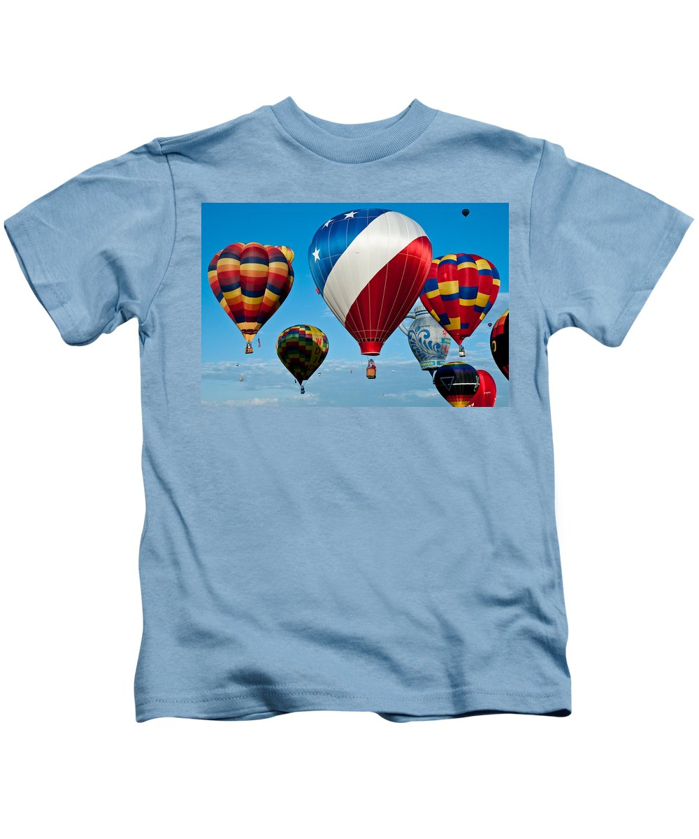 New Kids T-Shirt featuring the photograph Red White And Balloons by Jim Chamberlain