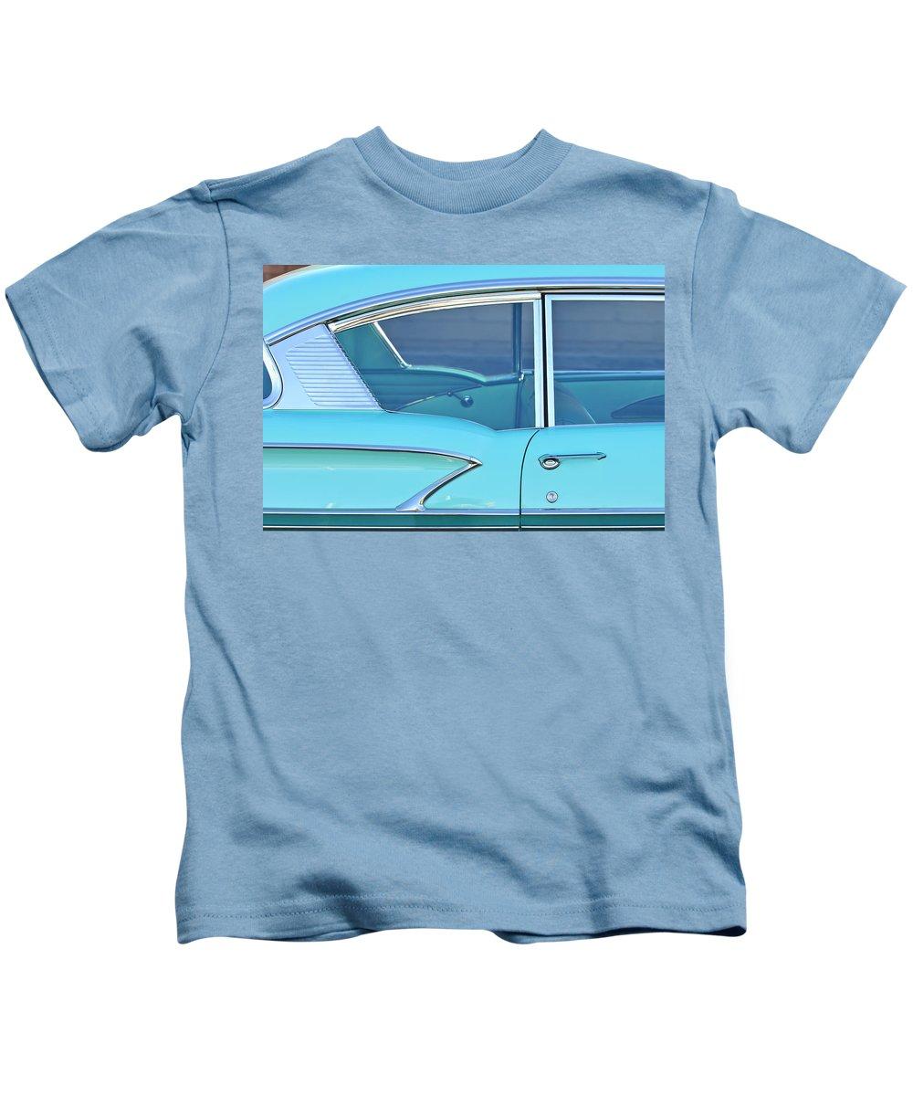 1958 Chevrolet Belair Kids T-Shirt featuring the photograph 1958 Chevrolet Belair by Jill Reger