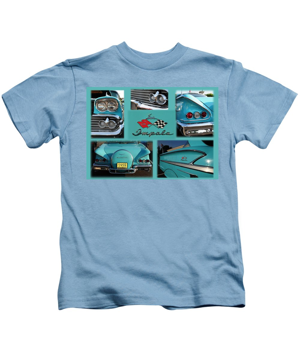1958 Impala Kids T-Shirt featuring the photograph 1958 Chevy Impala by Paul Ward