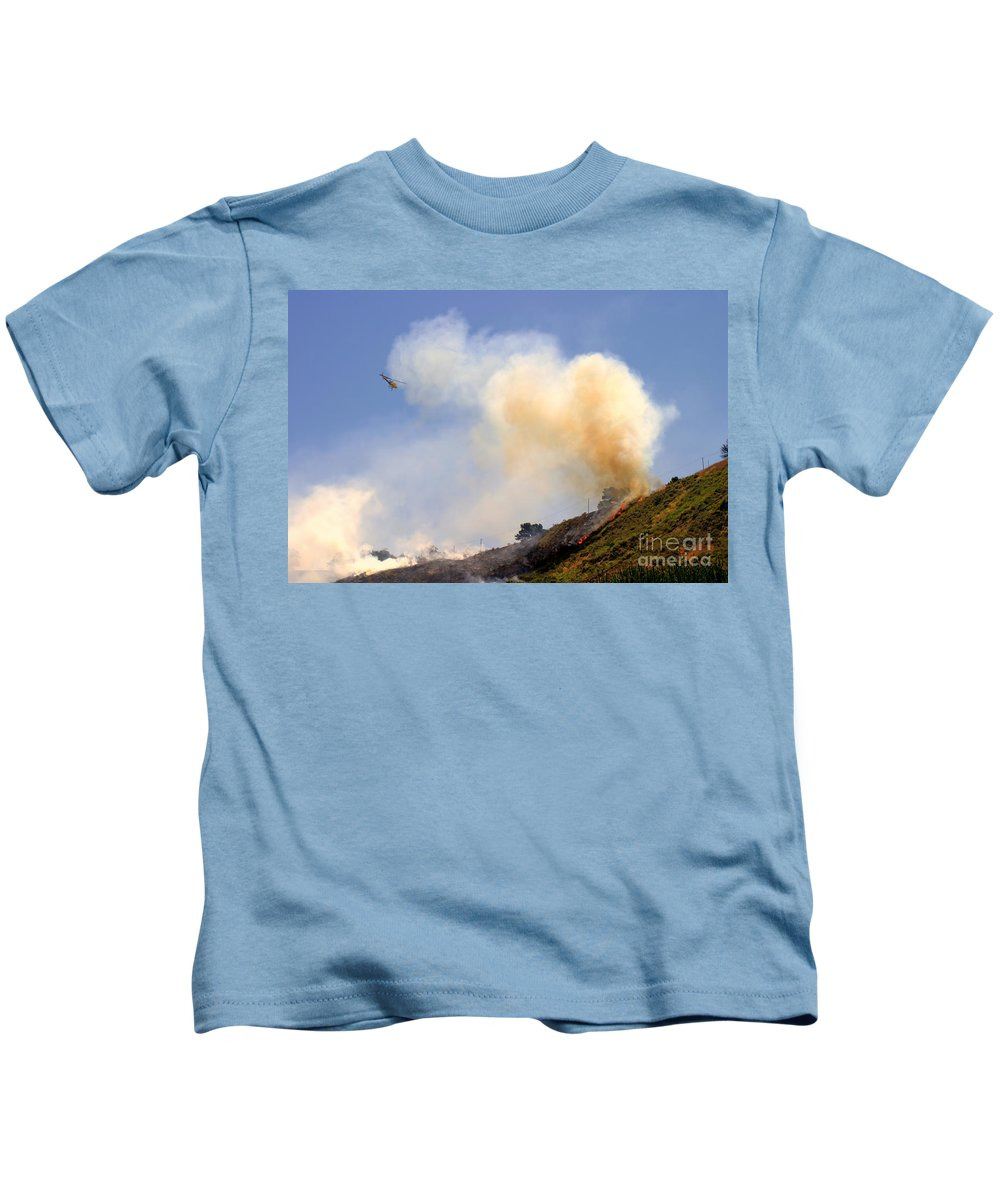 Ash Kids T-Shirt featuring the photograph Barnett Fire by Henrik Lehnerer