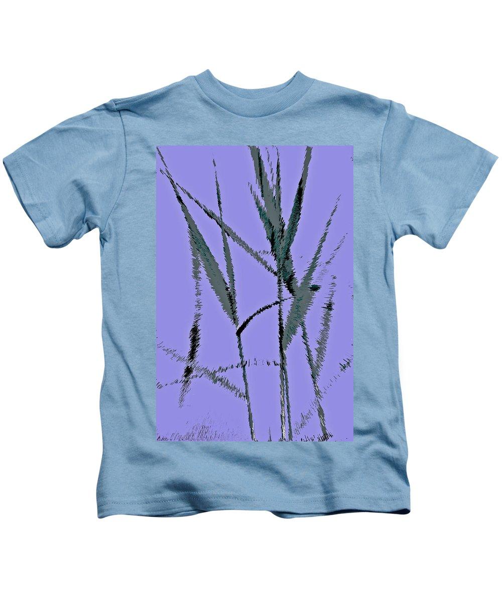 Monet Kids T-Shirt featuring the digital art Water Reed Digital Art by David Pyatt