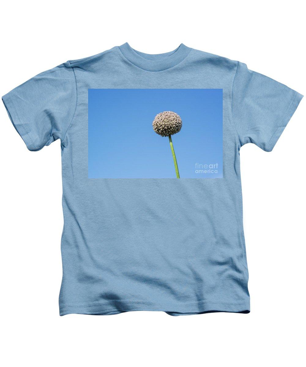 Allium Kids T-Shirt featuring the photograph Onion Flower by John Greim