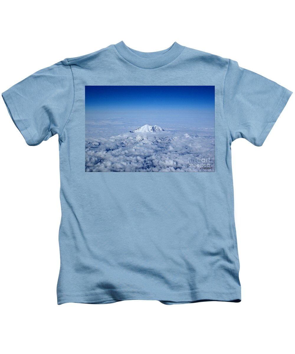 Nature Kids T-Shirt featuring the photograph Above The Clouds by Rebecca Morgan