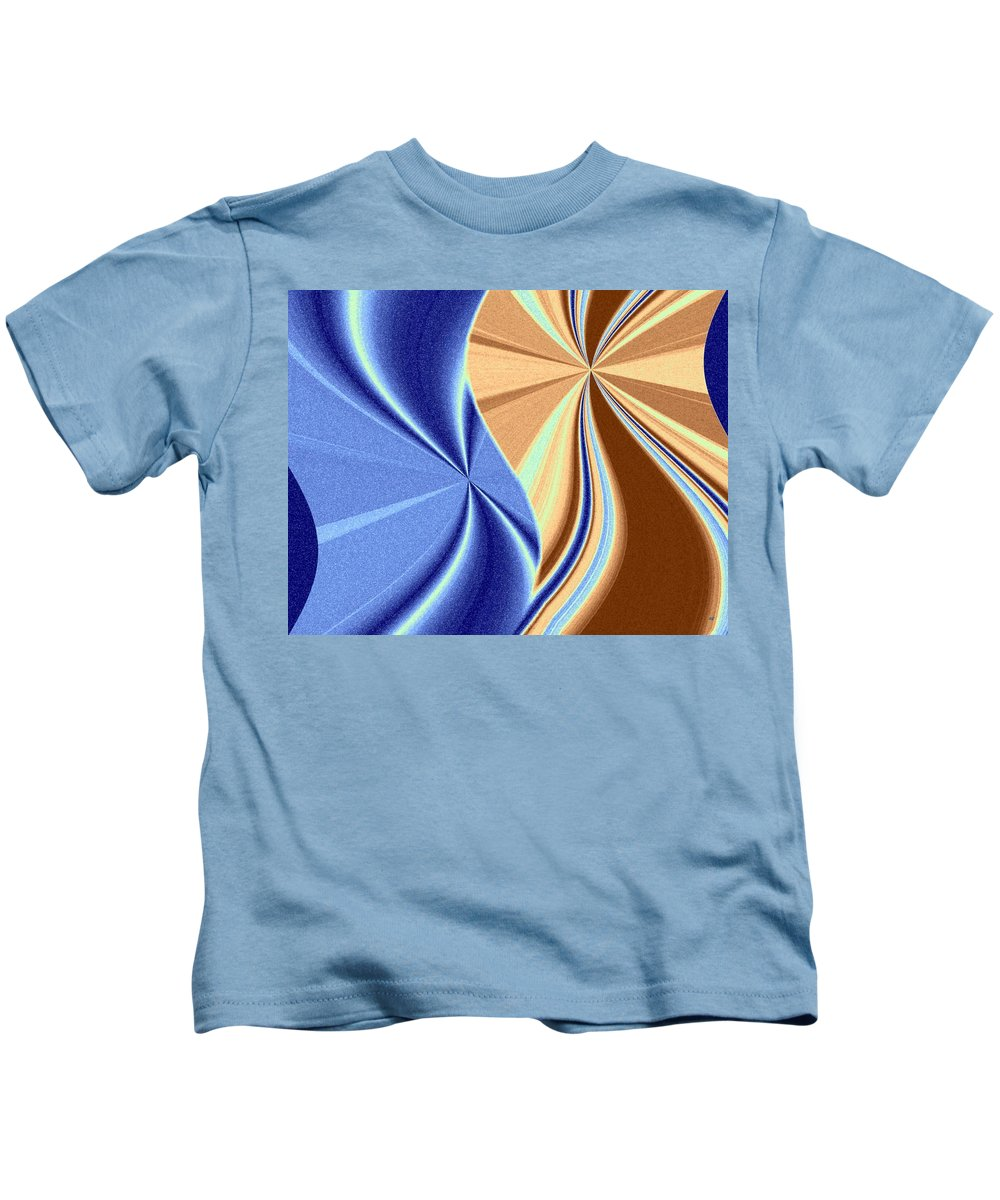 Abstract Fusion Kids T-Shirt featuring the digital art Abstract Fusion 66 by Will Borden
