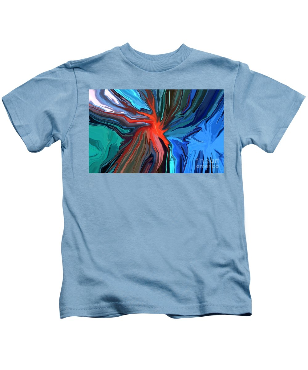Abstract Kids T-Shirt featuring the mixed media Anarchy by Chris Butler