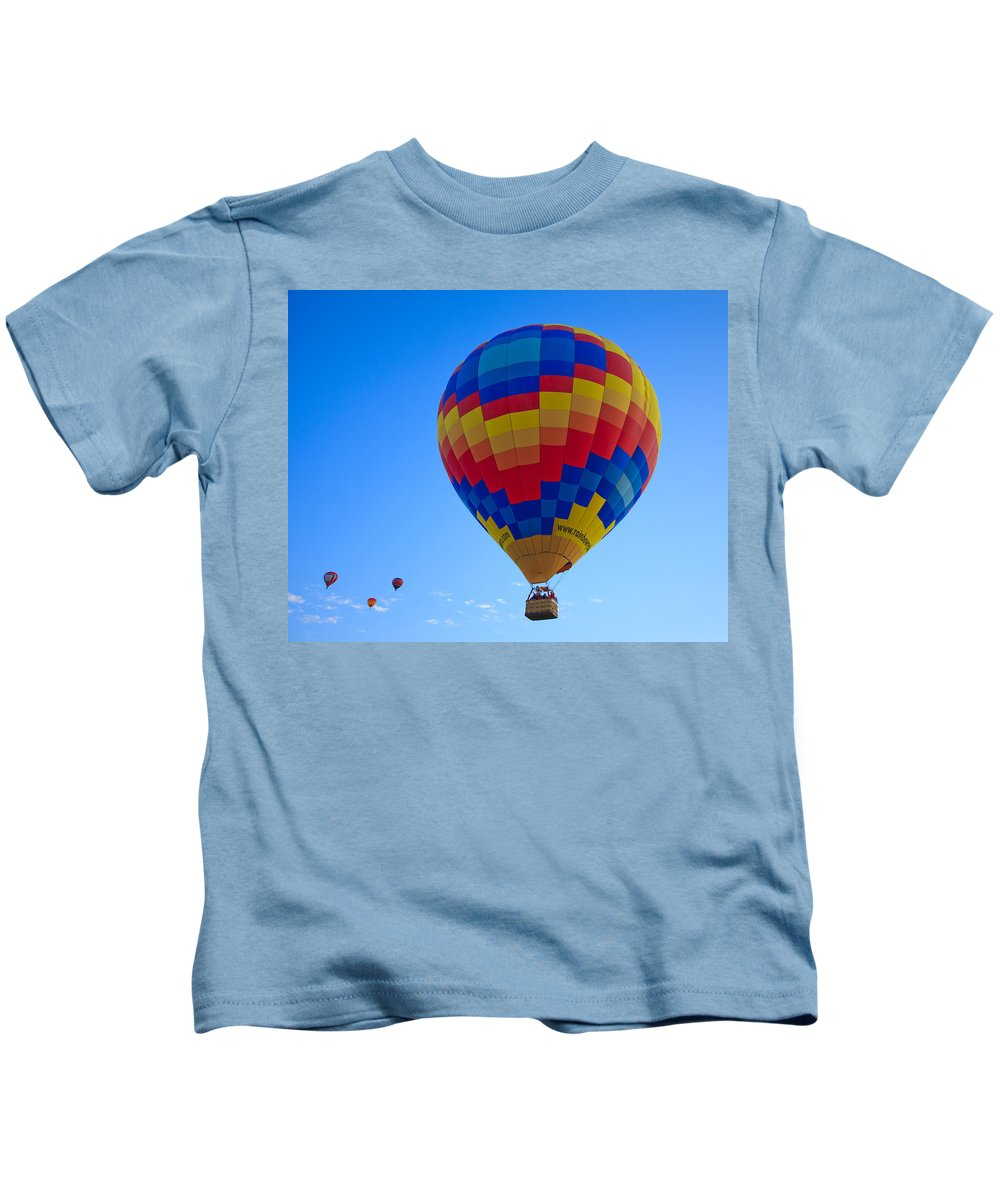 Hot Kids T-Shirt featuring the photograph Balloon Fiesta by Michael Clubb
