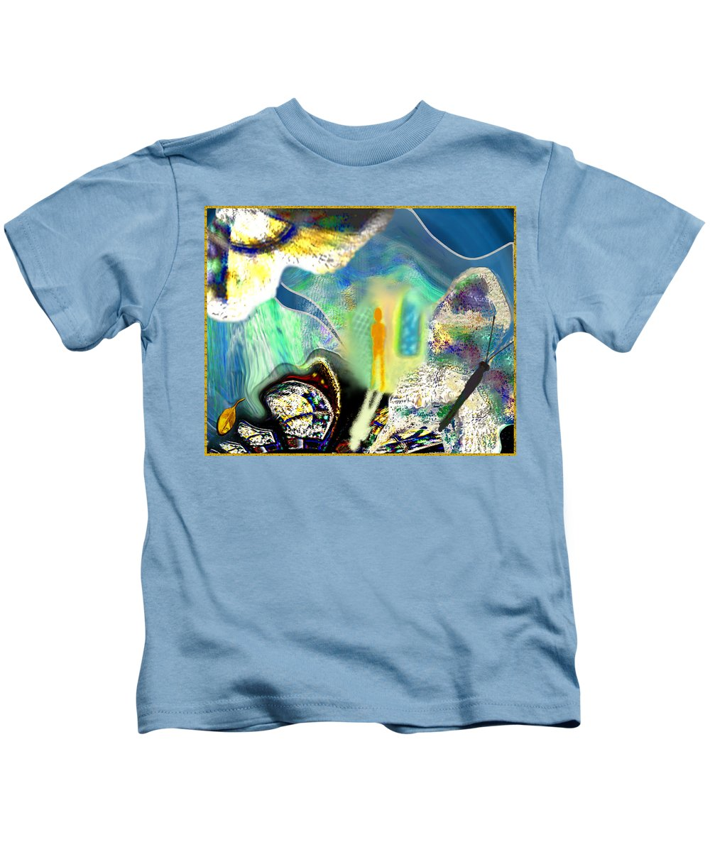 Butterfly Kids T-Shirt featuring the digital art Bliss And Beyond by Mathilde Vhargon