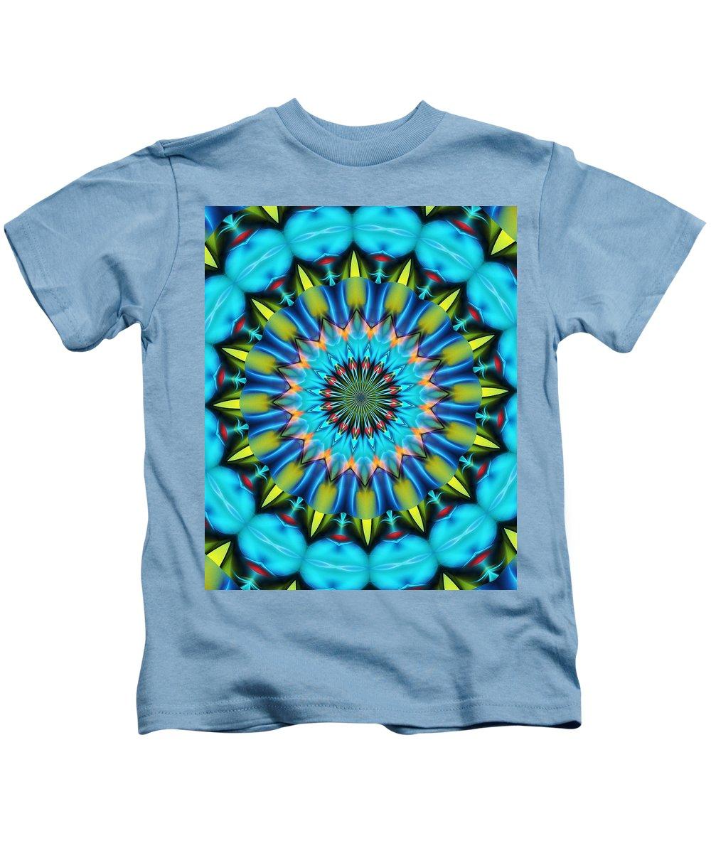 Mandela Kids T-Shirt featuring the digital art Blue Mandela 102311 by David Lane