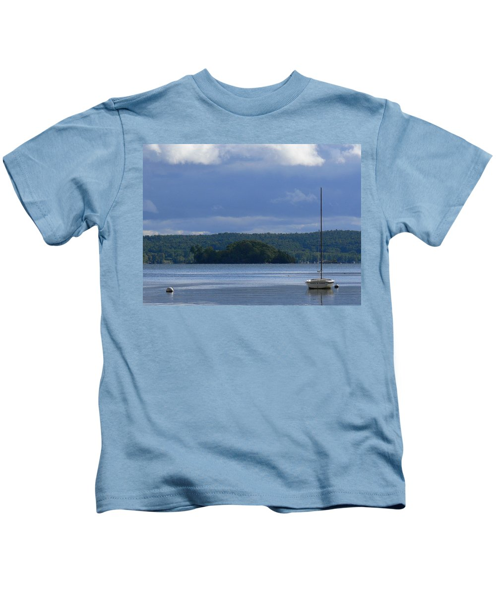 Lazy Lady Kids T-Shirt featuring the photograph Calm by Natalie LaRocque