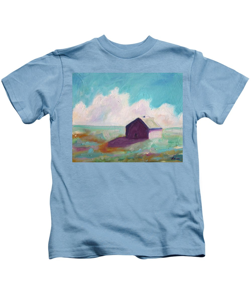 Barn Kids T-Shirt featuring the painting Catawba Virginia Barn by Todd Bandy