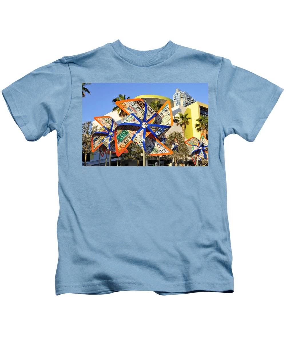 Fine Art Photography Kids T-Shirt featuring the photograph Colorful Flowers by David Lee Thompson