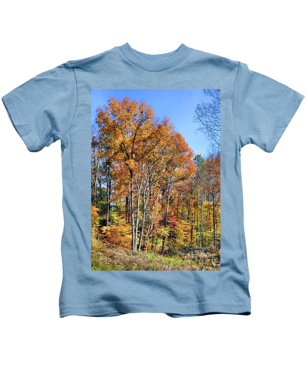 Autumn Kids T-Shirt featuring the photograph Colorful by Kristin Elmquist
