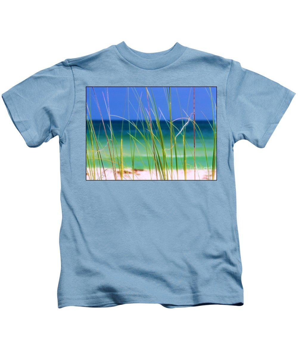 Beach Kids T-Shirt featuring the photograph Crystal Beach by Judi Bagwell