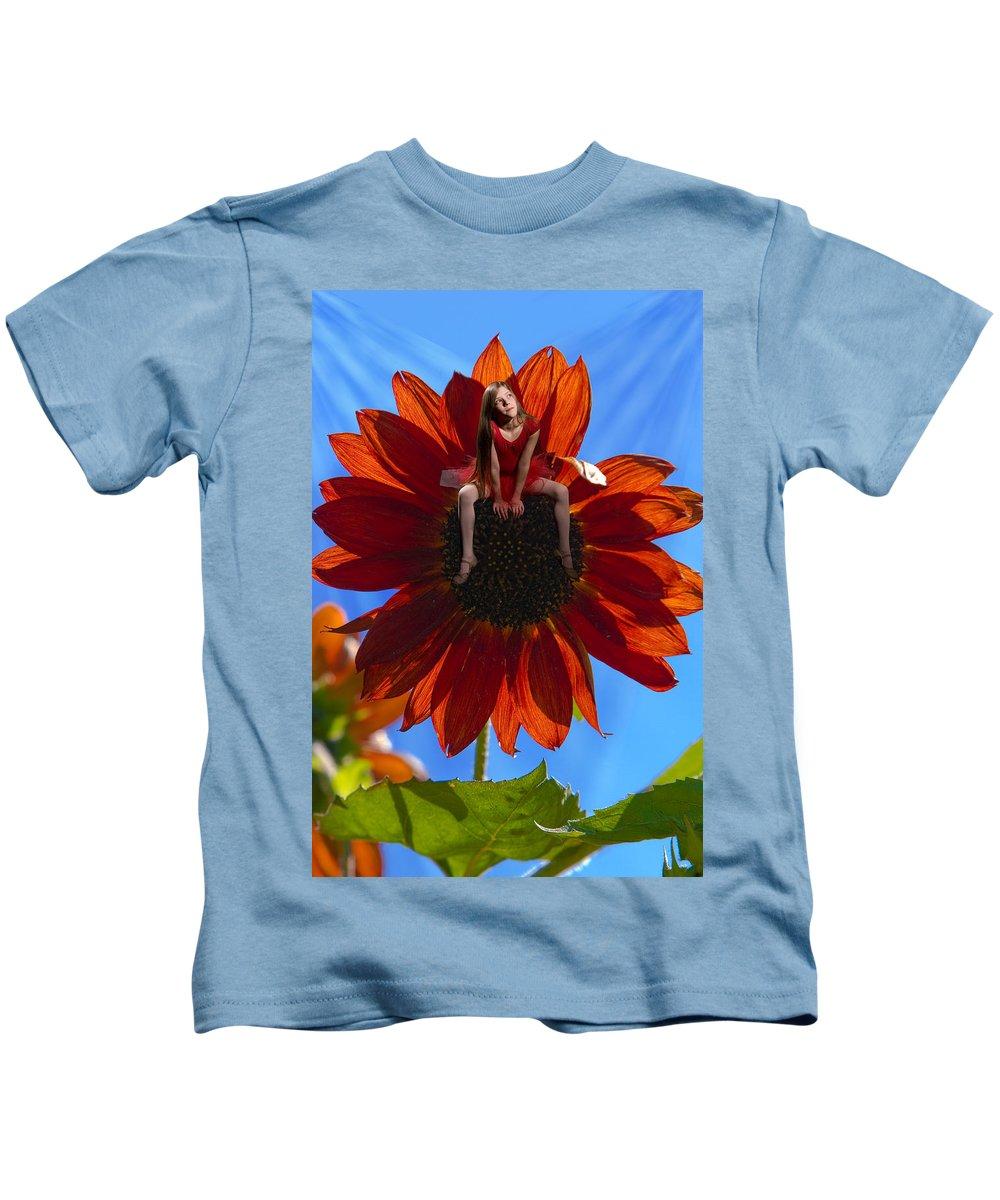 Kids T-Shirt featuring the digital art Digital Art Essay IIi by Marie-Dominique Verdier