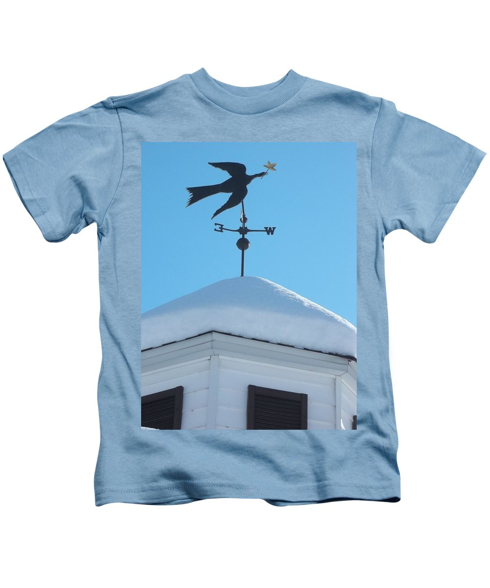 Dove Kids T-Shirt featuring the photograph Dove Weather Vane by Anne Cameron Cutri