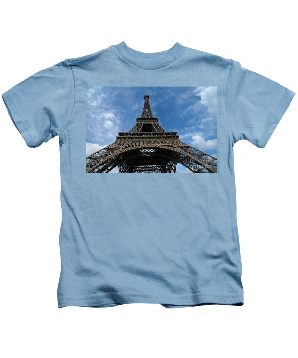 Eiffel Tower Kids T-Shirt featuring the photograph Eiffel Tower by Mike Nellums
