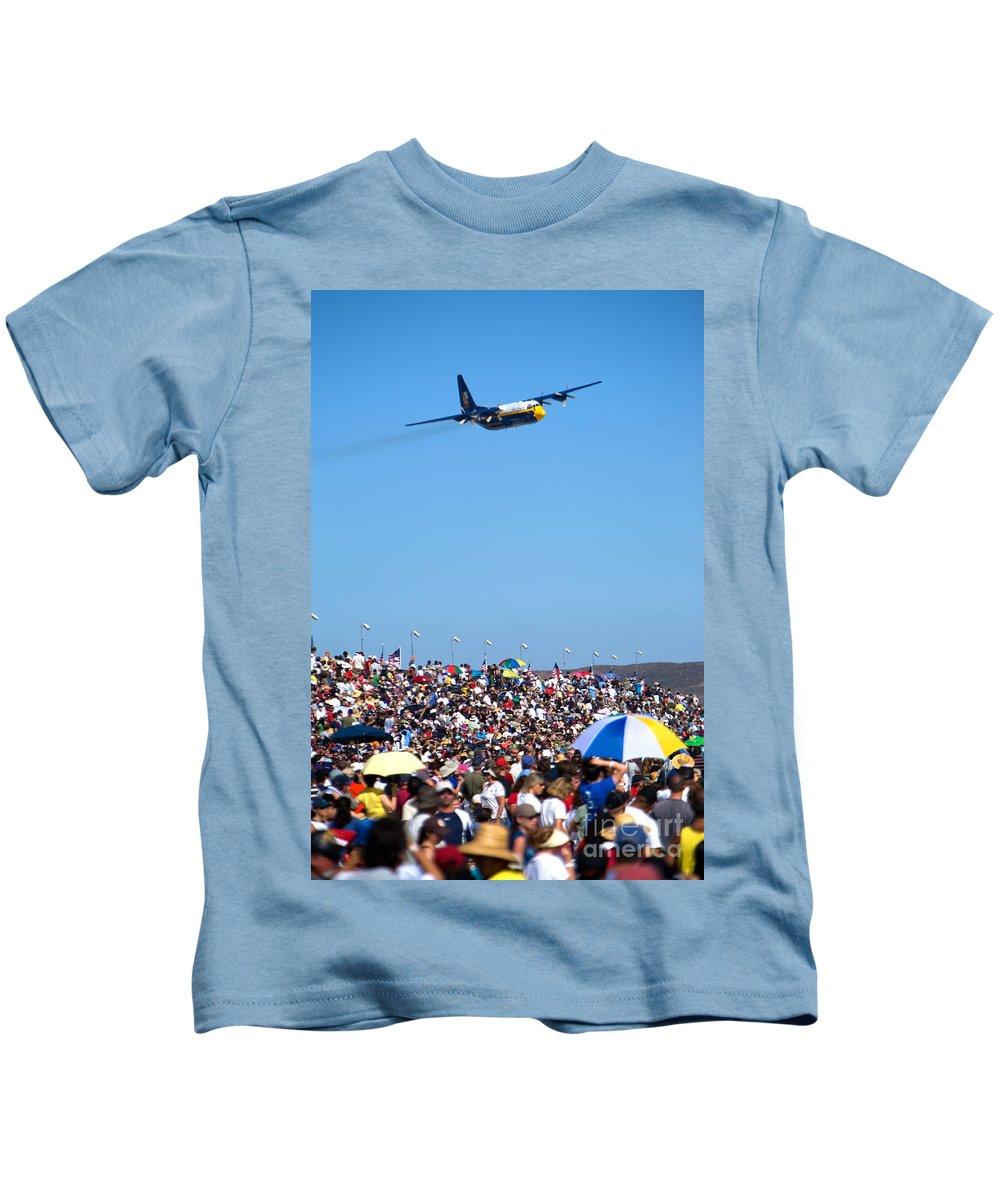 Blue Angels Kids T-Shirt featuring the photograph Fat Albert by Daniel Knighton