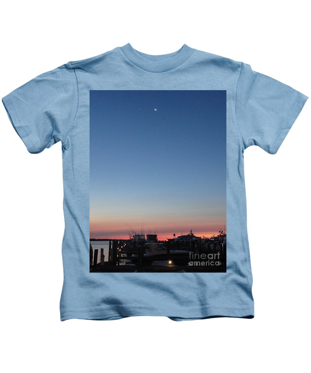 Moon Kids T-Shirt featuring the photograph Fleeting Night by Meandering Photography