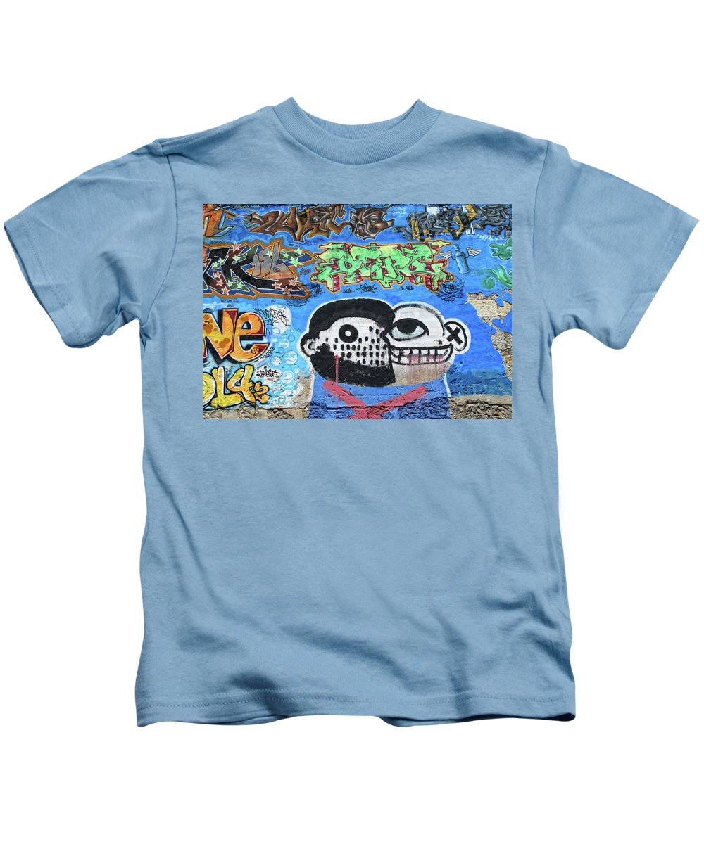Graffiti Kids T-Shirt featuring the photograph Graffiti Provence France by Dave Mills