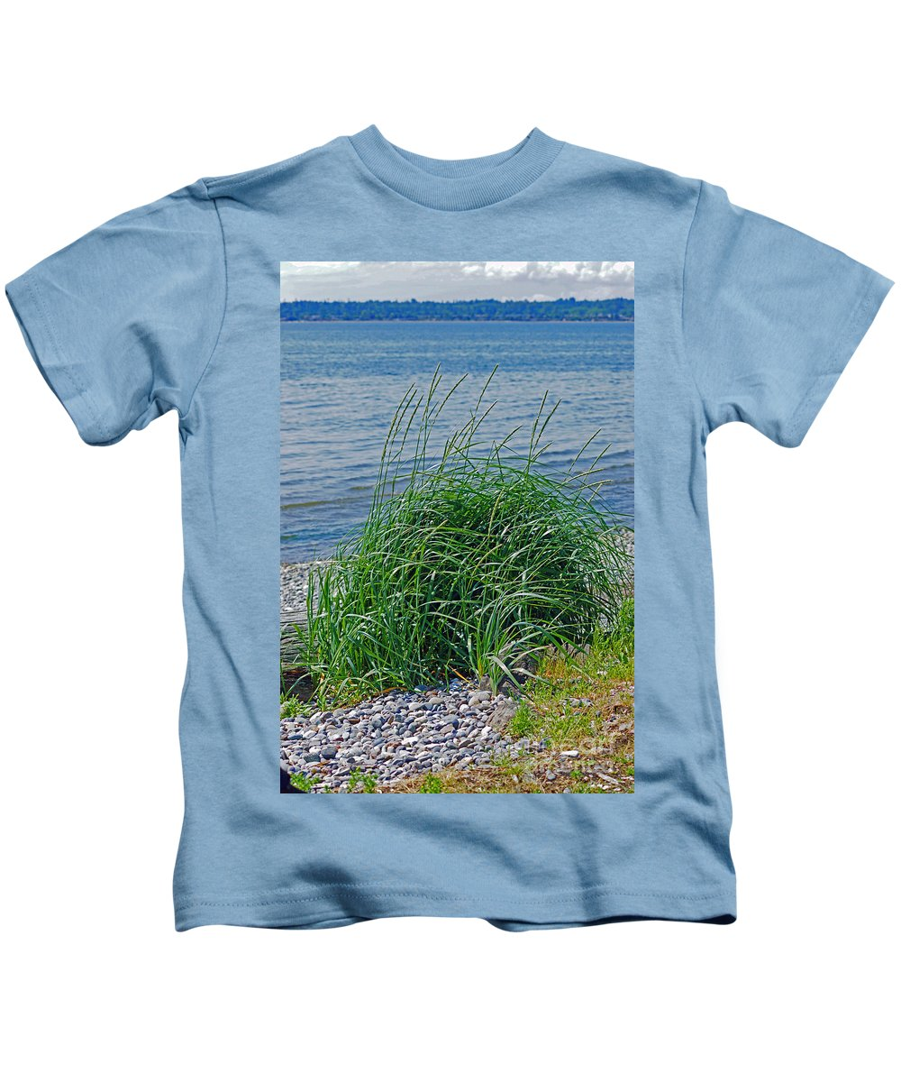 Grass Kids T-Shirt featuring the photograph Grass On The Beach by Randy Harris