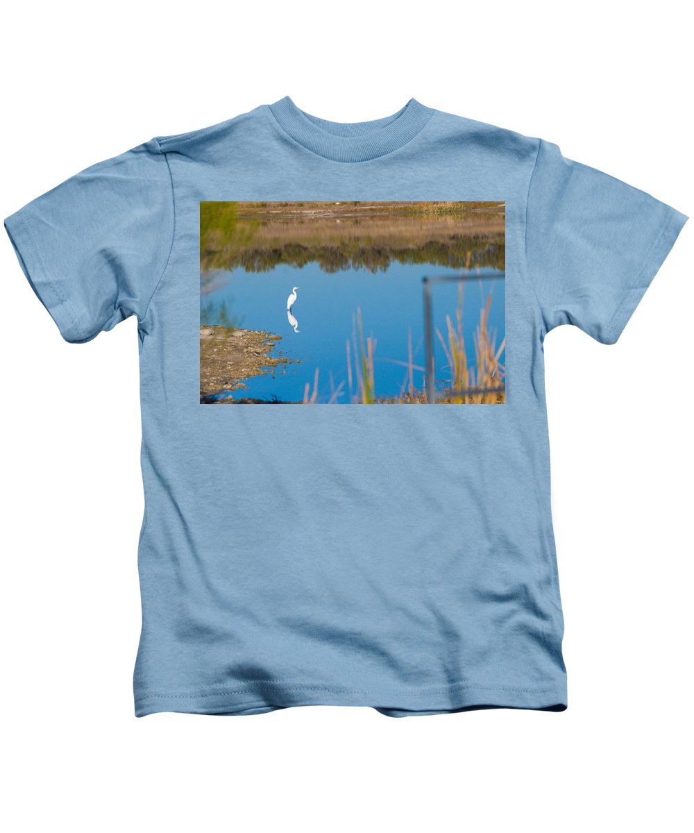 Fall Color Kids T-Shirt featuring the photograph Herron 1 by Sean Wray
