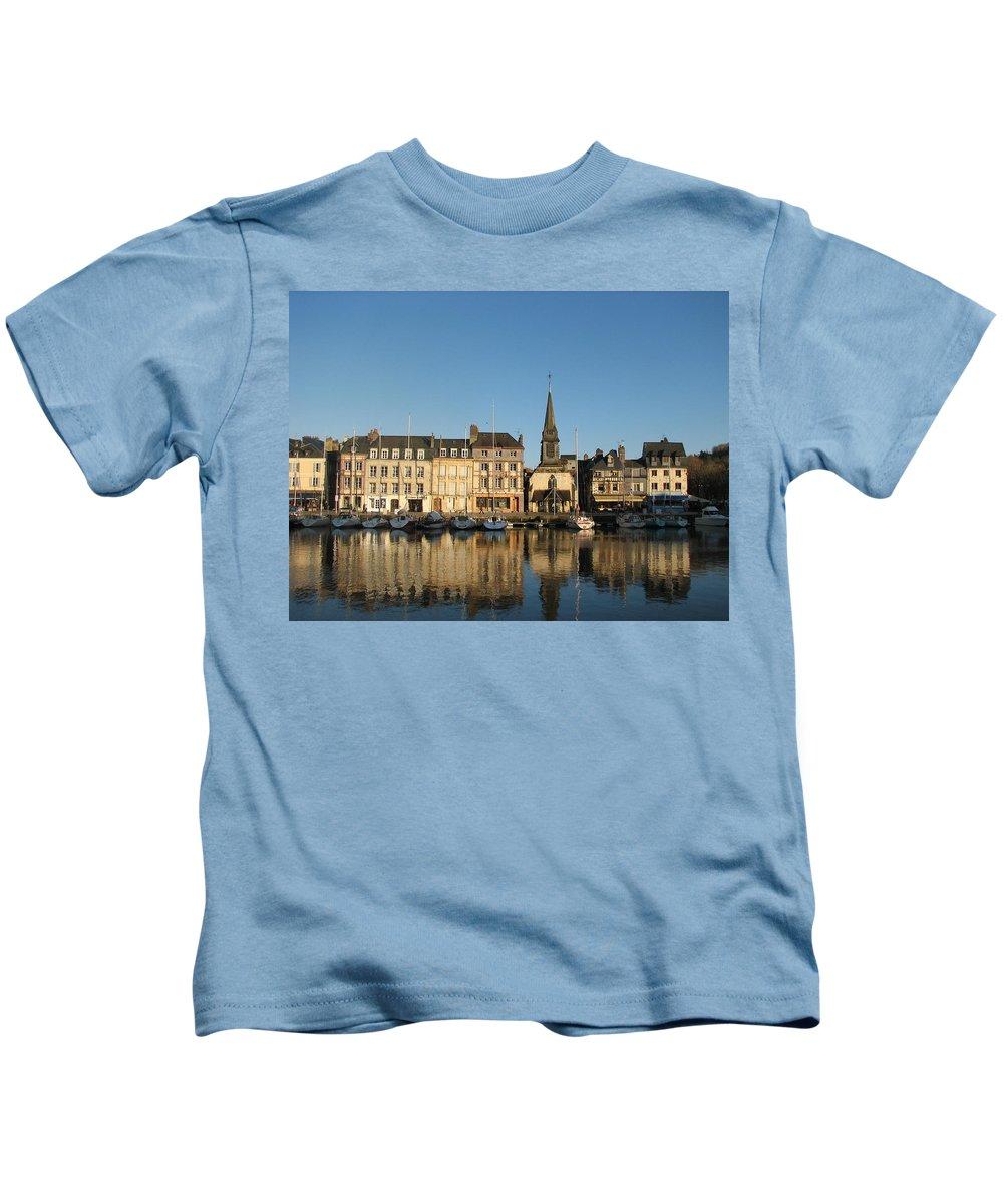 Honfleur Kids T-Shirt featuring the photograph Honfleur by Carla Parris