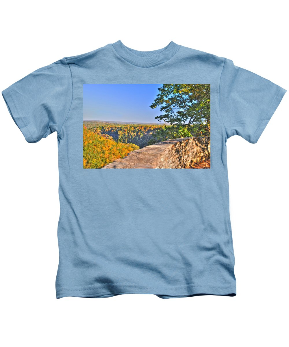 Kids T-Shirt featuring the photograph In Awe by Michael Frank Jr