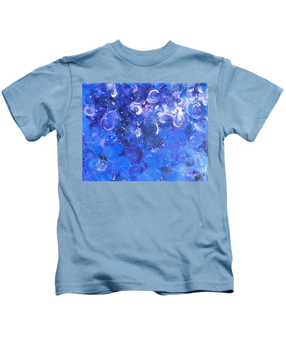 Moody Blues Kids T-Shirt featuring the painting In Your Wildest Dreams by Alys Caviness-Gober