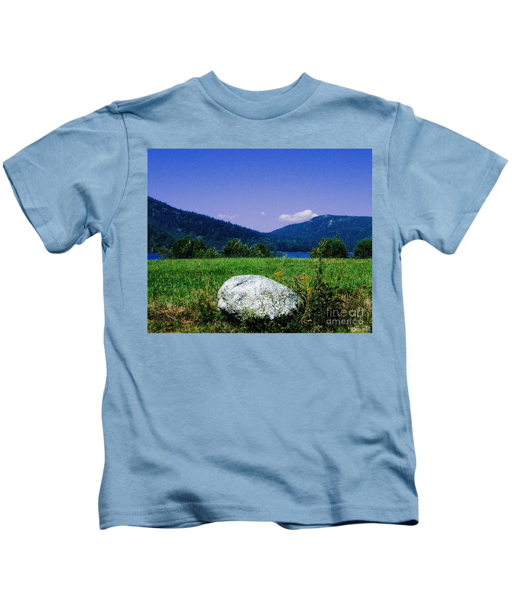 Boulder Kids T-Shirt featuring the photograph Mt Desert Island Maine by Lizi Beard-Ward