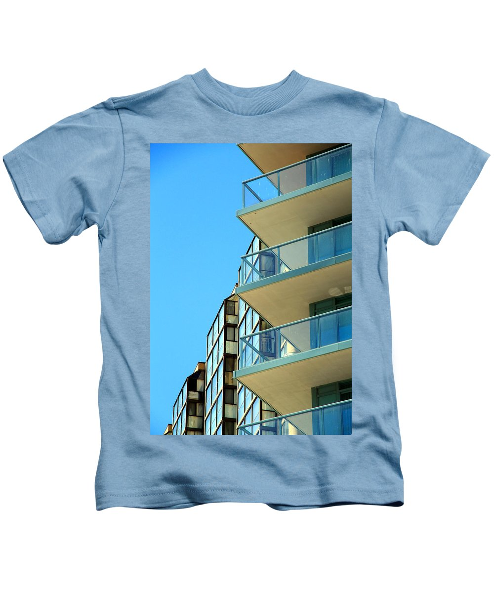 Architecture Kids T-Shirt featuring the photograph New Condo by Valentino Visentini
